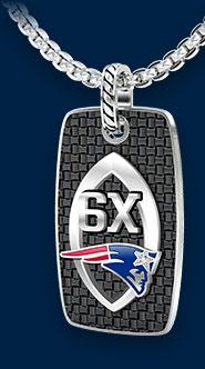 New England Patriots 6X Champions Tag