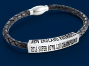 New England Patriots Championship Leather Bracelet