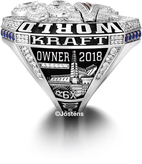 New England Patriots Championship Ring owner side view