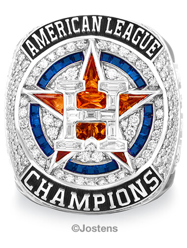 Houston Astros Championship Ring front view