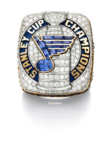 St. Louis Blues Championship Ring front view