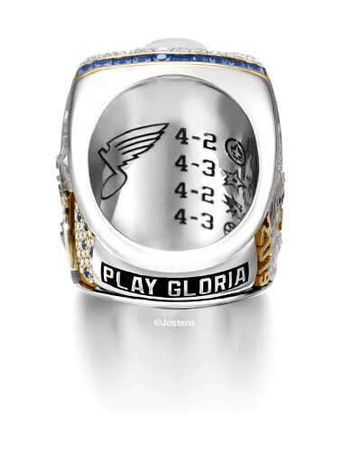 St. Louis Blues Championship Ring interior view