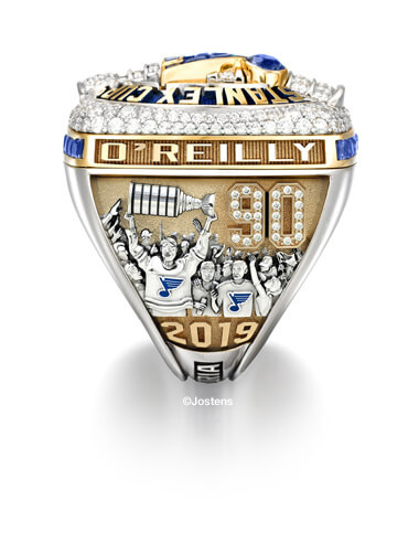 St. Louis Blues Championship Ring left panel view