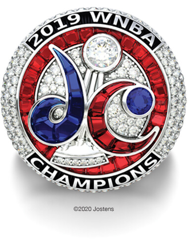 Washington Mystics Elite Ring front view
