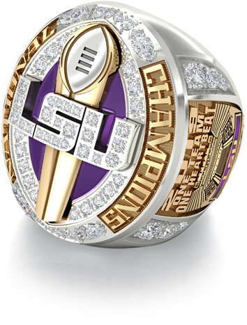 LSU College Championship Ring Paperweight