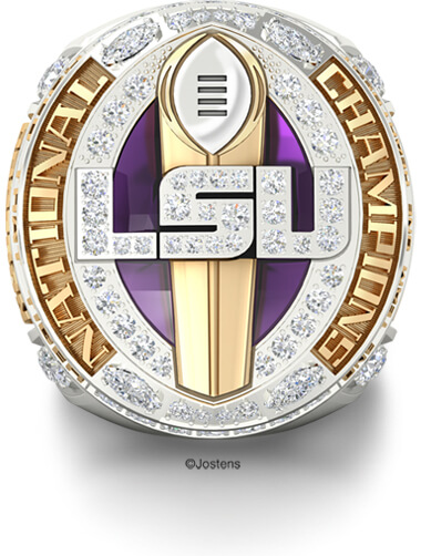 LSU College Football Championship Ring front view