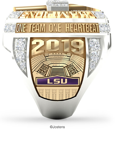 LSU College Football Championship Ring left panel view