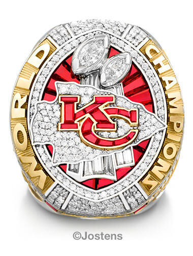 Kansas City Chiefs Championship Ring front view