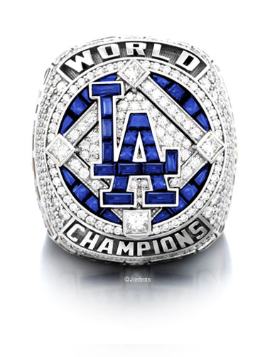 Los Angeles Dodgers Championship Ring front view