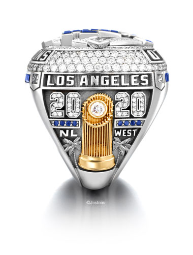 Los Angeles Dodgers Championship Ring team sideview