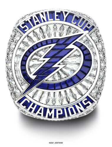 Tampa Bay Lightning Championship Ring front view