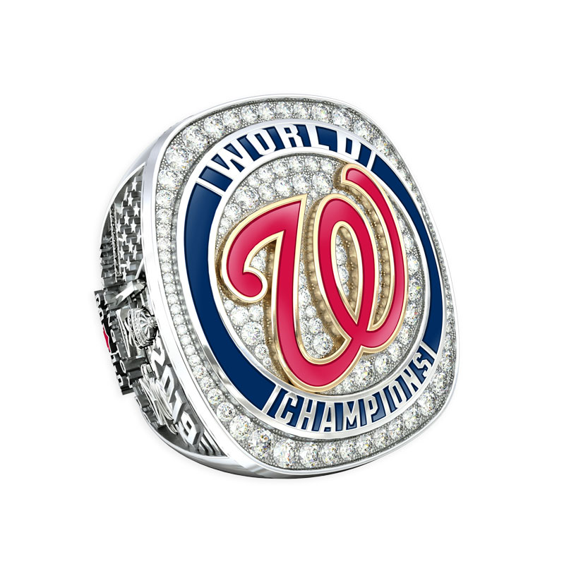 Washington Nationals Championship Ring Paperweight