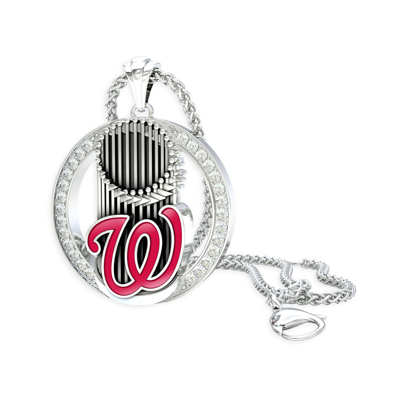 Washington Nationals Eternity Pendant