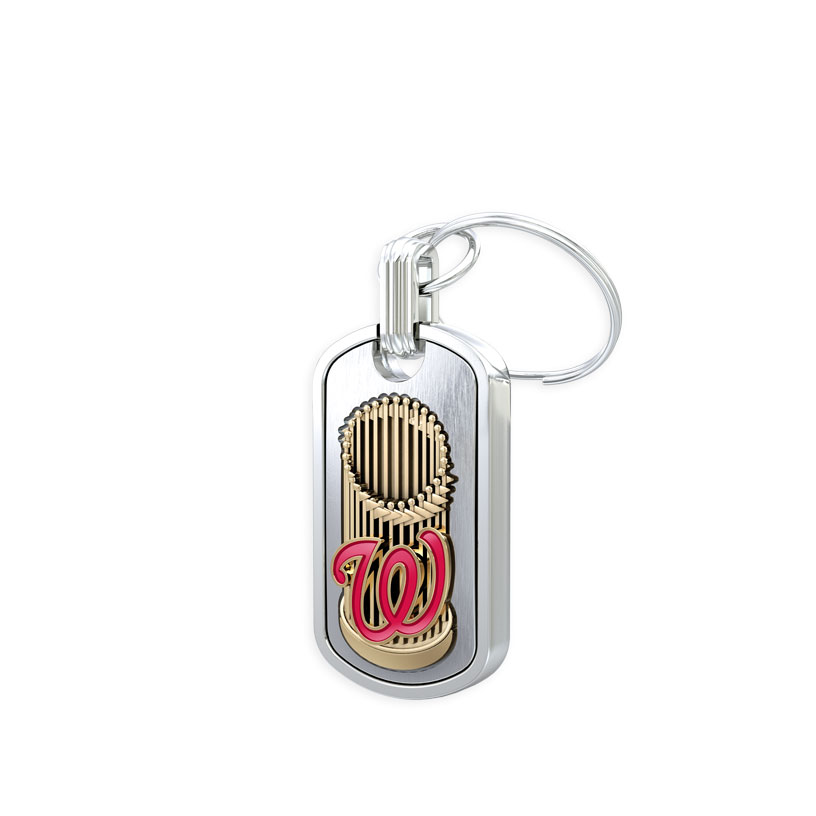 Washington Nationals Trophy Keychain