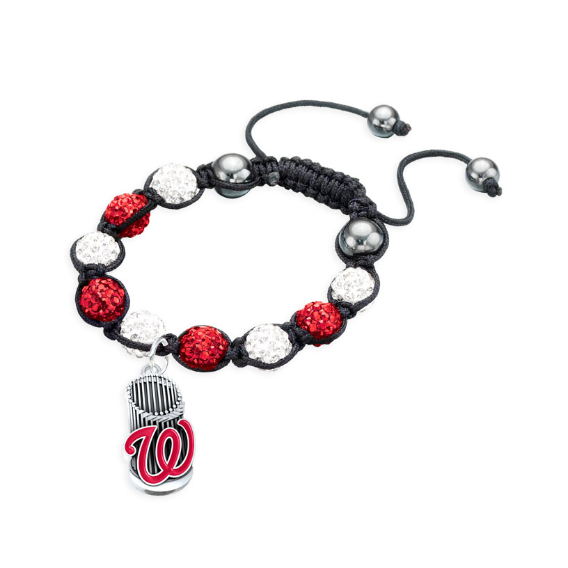 Washington Nationals Trophy Shamballa Bracelet