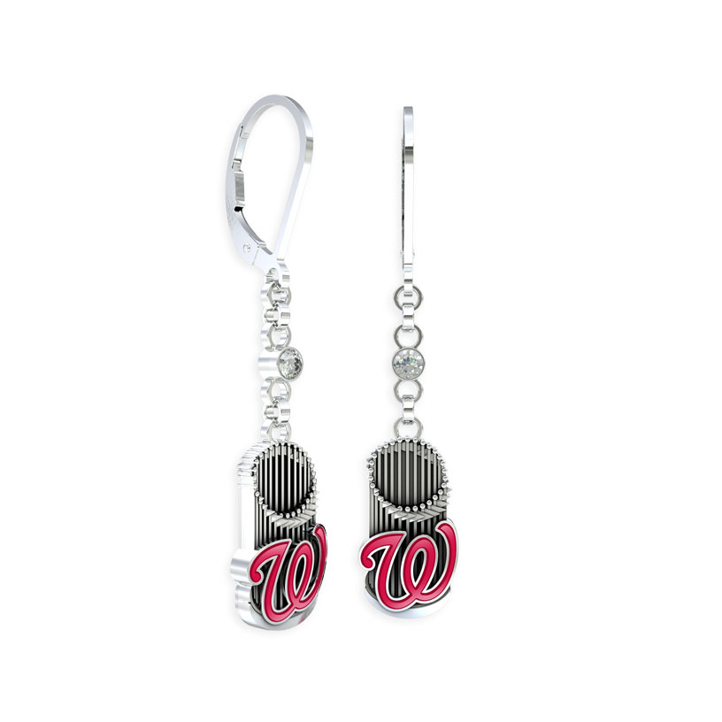 Washington Nationals World Series Earrings