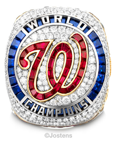 Washington Nationals Elite Ring front view