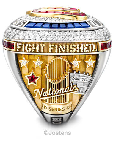 Washington Nationals Elite Ring right view